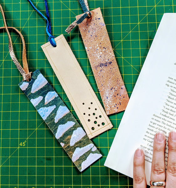 DIY leather bookmarks, simple leather craft