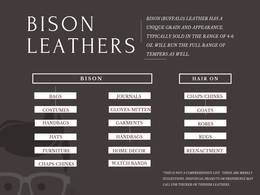 bison buffalo leather