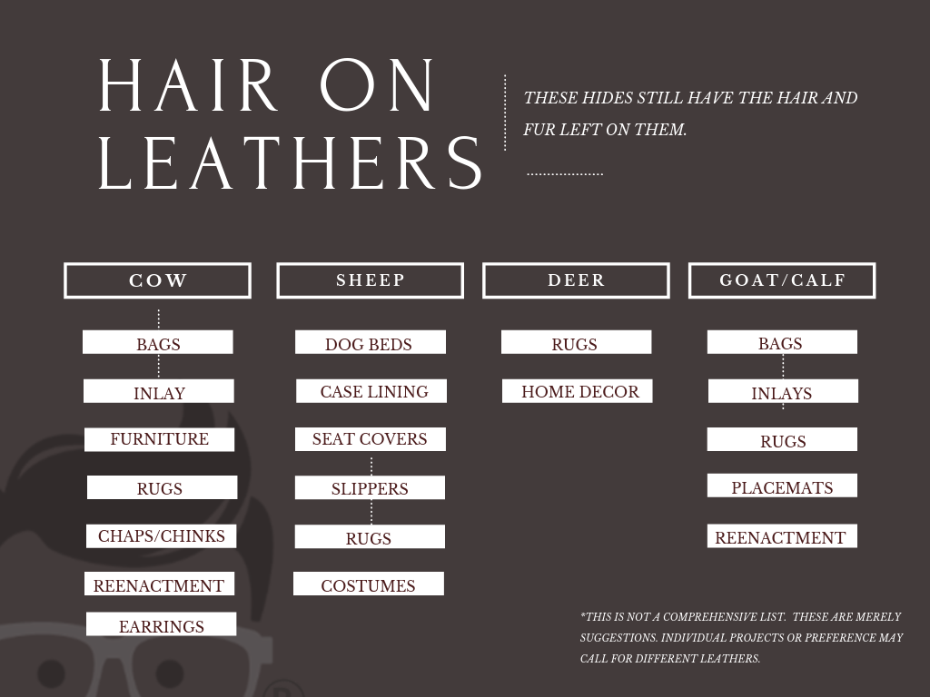hair on hide leather
