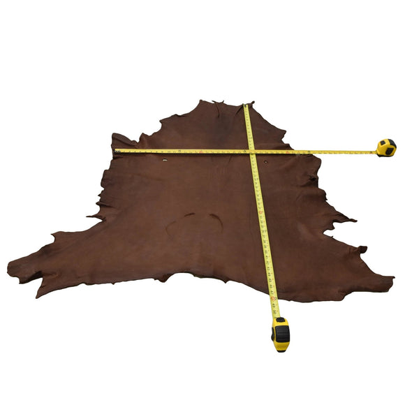 Chocolate Buckskin Deer Hides, 13 Square Foot / Hide 11 / 5-6oz