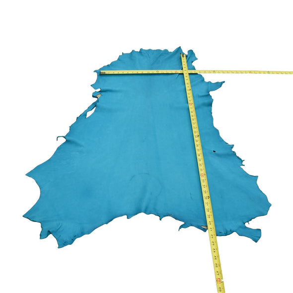 Turquoise Buckskin Deer Hides, 8 Square Foot / Hide 1 / 2-3oz