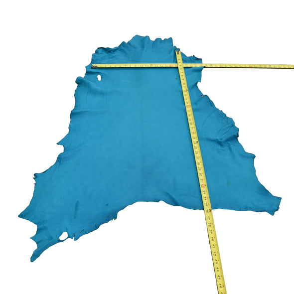 Turquoise Buckskin Deer Hides, 8 Square Foot / Hide 3 / 2-3oz