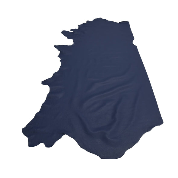 Naval Base Blue Tried n True 3-4 oz Leather Cow Hides, 24-26 Square Foot / Side