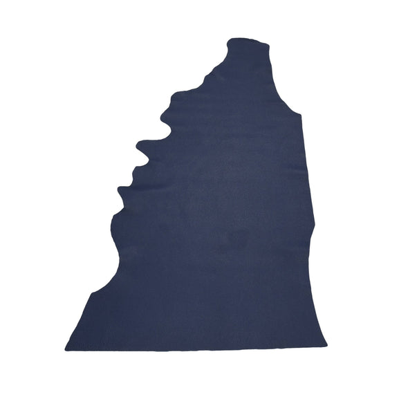 Naval Base Blue Tried n True 3-4 oz Leather Cow Hides, 6.5-7.5 Square Foot / Project Piece (Top)