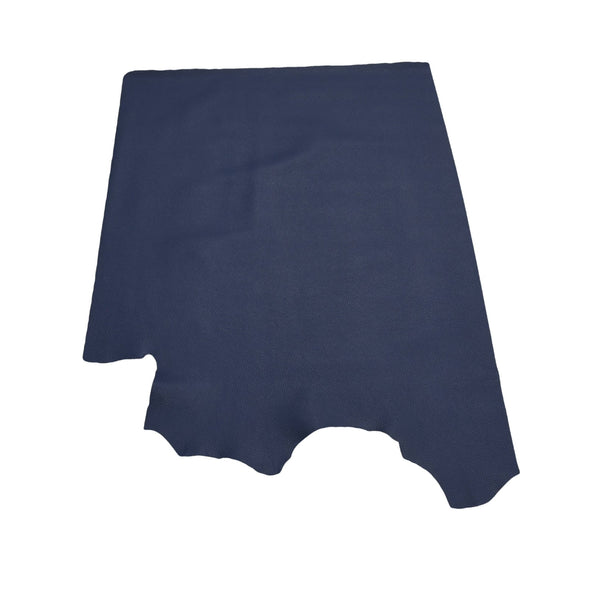 Naval Base Blue Tried n True 3-4 oz Leather Cow Hides, 6.5-7.5 Square Foot / Project Piece (Middle)