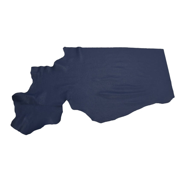 Naval Base Blue Tried n True 3-4 oz Leather Cow Hides, 6.5-7.5 Square Foot / Project Piece (Bottom)
