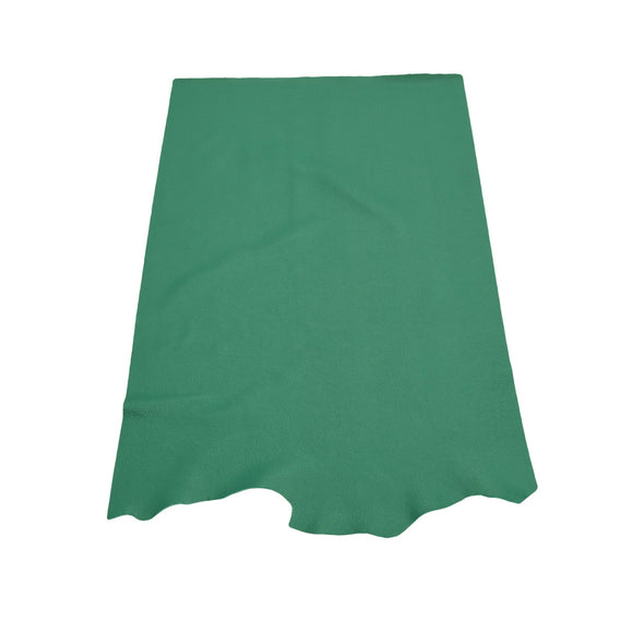 Deep Atlantic Ocean Green, 3-4 oz Cow Hides, Tried n True, 6.5-7.5 Square Foot / Project Piece (Middle)