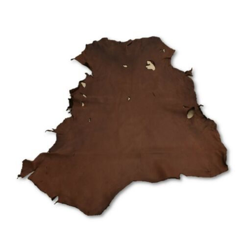 Chocolate Buckskin Deer Hides, 11 Square Foot / Hide 6 / 4-5oz