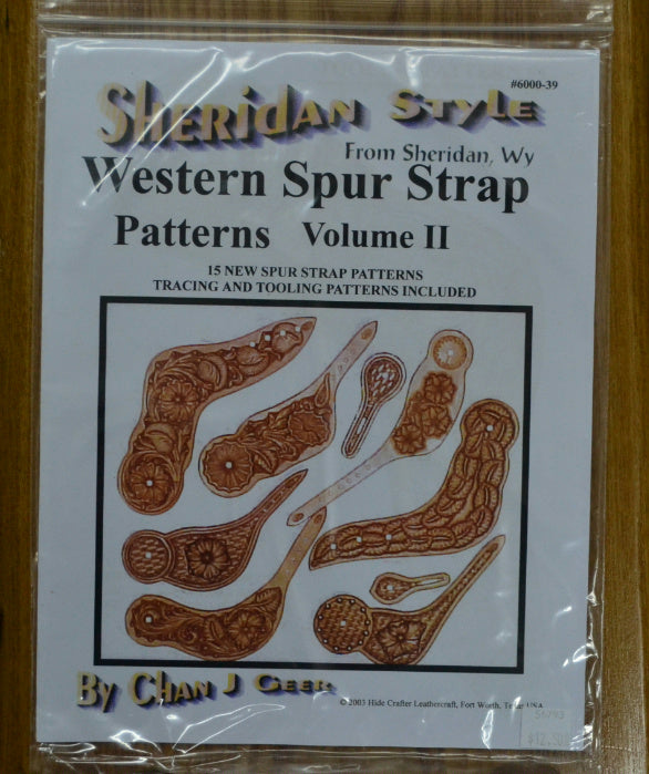 Leather craft Instructions Sheridan Style Western Spur Strap Patterns Volume 2,