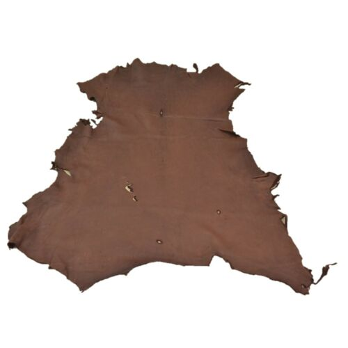 Chocolate Buckskin Deer Hides, 11 Square Foot / Hide 12 / 4-5oz
