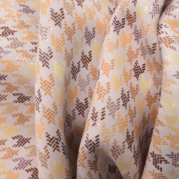 Woven Houndstooth Soft Pink, 3-4 oz Cow Hides, Retro Throwbacks,