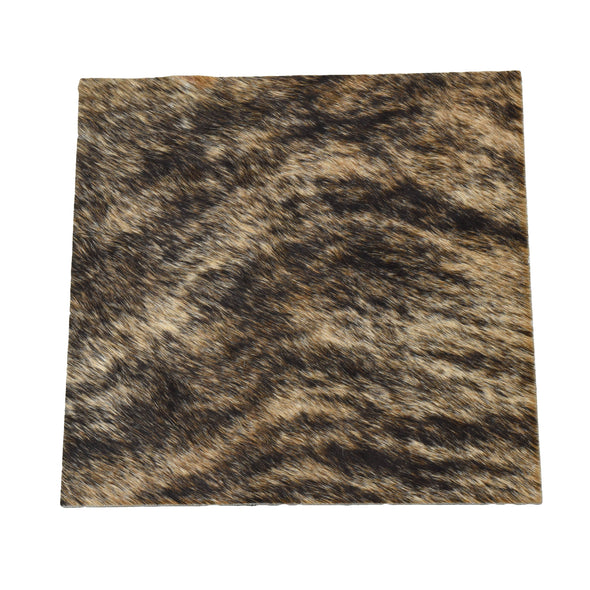 "Light Brindle Leather Hair on Cow Hide 12"" x 12"" Pre-cut,"