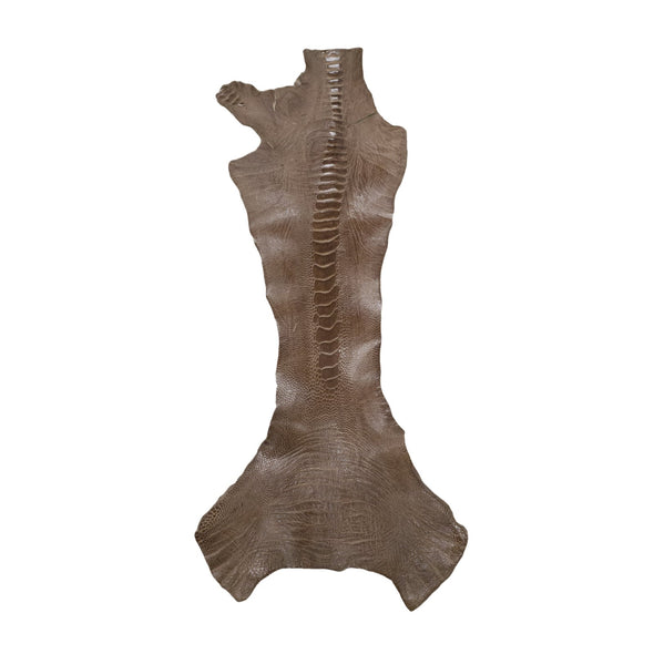 "Ostrich Leg Skins, 12""-16"", 2-3 oz, Glazed, Cedar Brown"