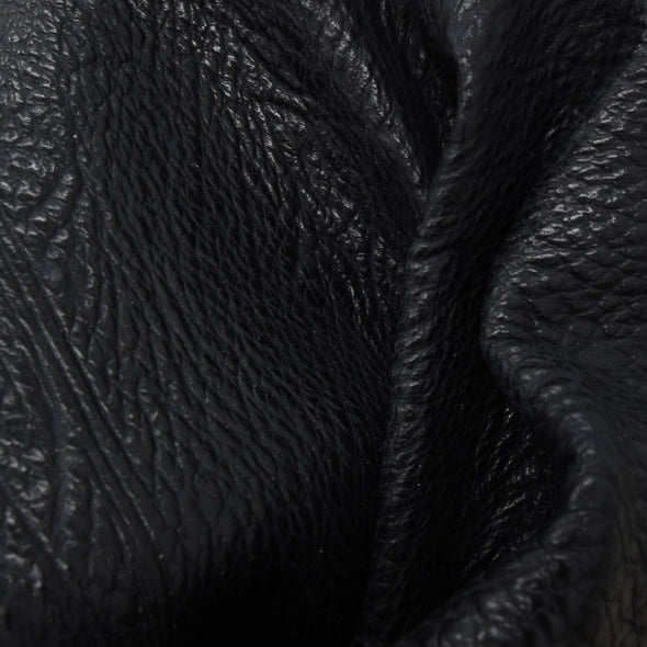 Genuine Shark Tanned Exotic Leather Black Hides 3-4 oz,