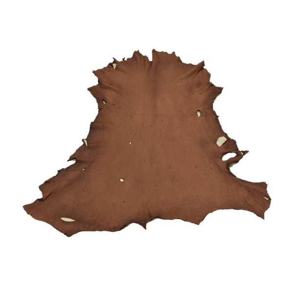 Chocolate Buckskin Deer Hides, 12 Square Foot / Hide 4 / 4-5oz