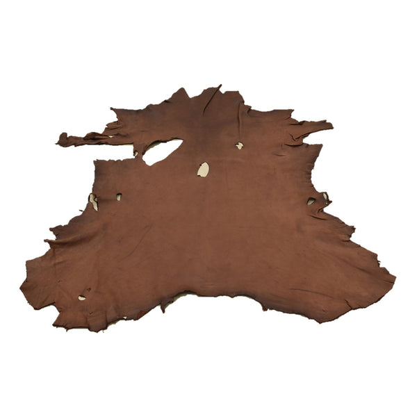 Chocolate Buckskin Deer Hides, 11 Square Foot / Hide 10 / 4-5oz