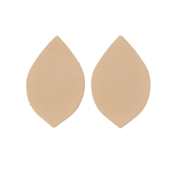 Artisan's Choice Veg Tan Die Cut Earrings - Various Shapes & Sizes, 5-6 oz / Small Leaf