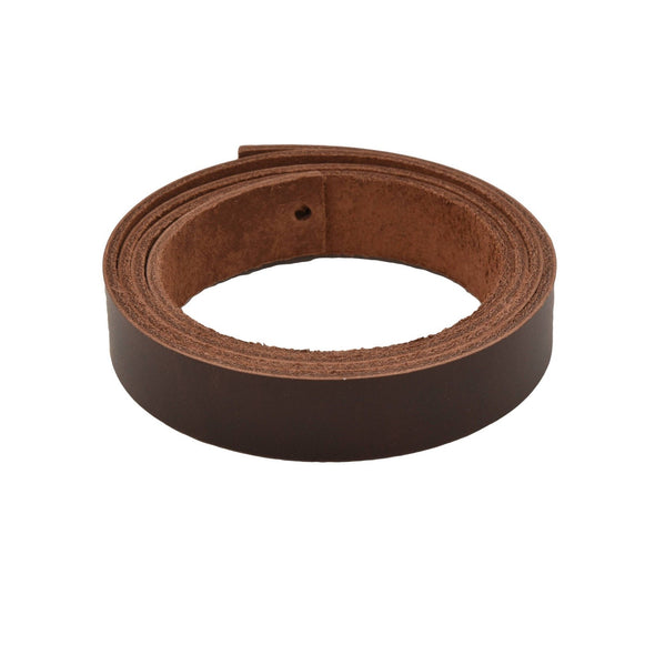 "Leather Pre-cut Belt Blanks 54"" long 9-10oz Minnesota Superior Cowhide, Up North Burgundy Brown / 1 / Premium"