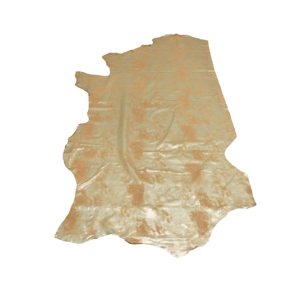 Faded Gold Platinum Rock N Roll 2-3 oz Leather Cow Hides, 21-23 Square Foot / Side