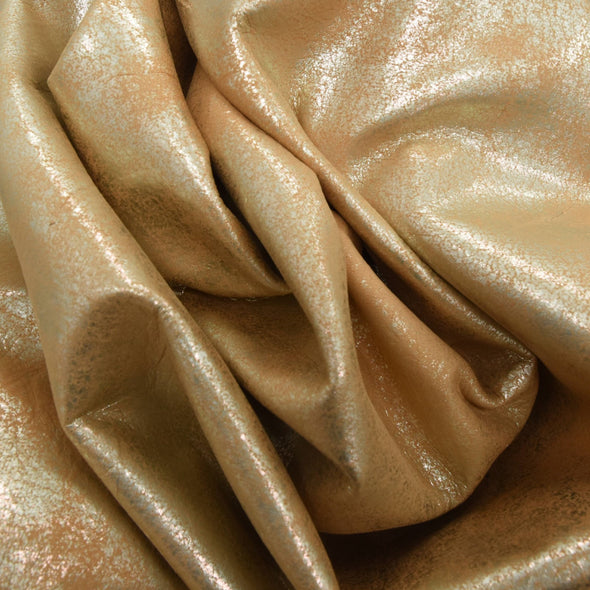 Faded Gold Platinum Rock N Roll 2-3 oz Leather Cow Hides,