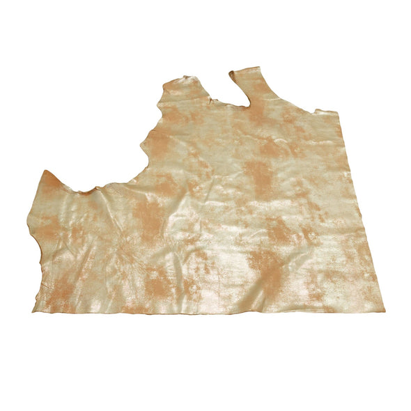 Faded Gold Platinum Rock N Roll 2-3 oz Leather Cow Hides, 6.5-7.5 Square Foot / Project Piece (Top)