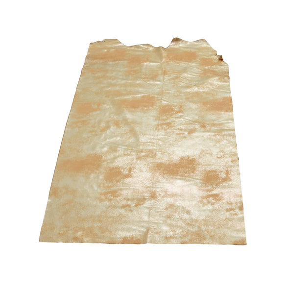 Faded Gold Platinum Rock N Roll 2-3 oz Leather Cow Hides, 6.5-7.5 Square Foot / Project Piece (Middle)