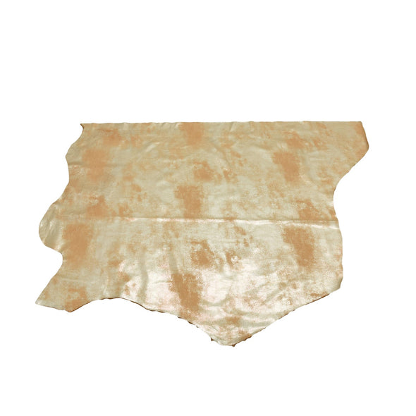 Faded Gold Platinum Rock N Roll 2-3 oz Leather Cow Hides, 6.5-7.5 Square Foot / Project Piece (Bottom)