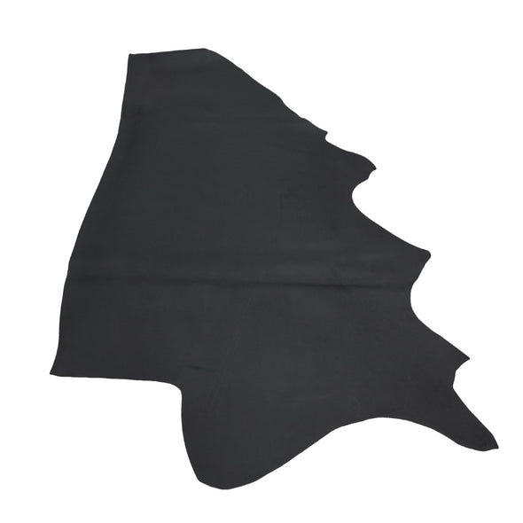 Muted Black Oil Tanned Cowhide Sides 4 1/2-5 1/2 oz Smooth, 18 - 20 Sq Ft