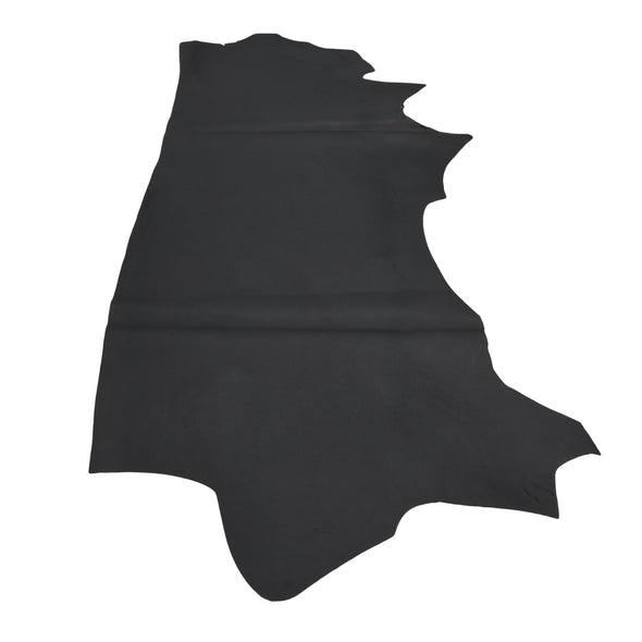 Muted Black Oil Tanned Cowhide Sides 4 1/2-5 1/2 oz Smooth, 24 - 26 Sq Ft