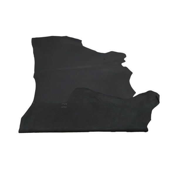 Muted Black Oil Tanned Cowhide Sides 4 1/2-5 1/2 oz Smooth,