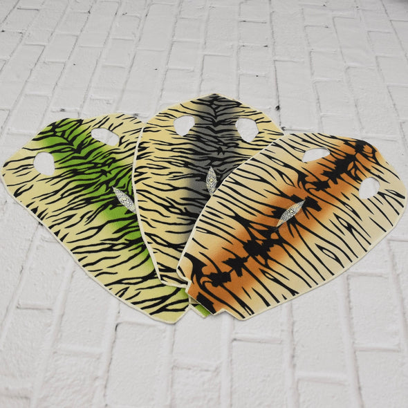 Stingray Skins 100% Polished Exotic Leather hide inlay Tiger Stripes,