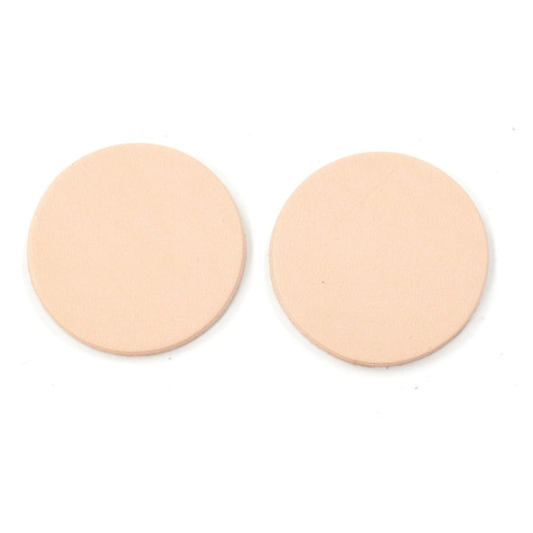 Artisan's Choice Veg Tan Die Cut Earrings - Various Shapes & Sizes, 5-6 oz / Medium Circle