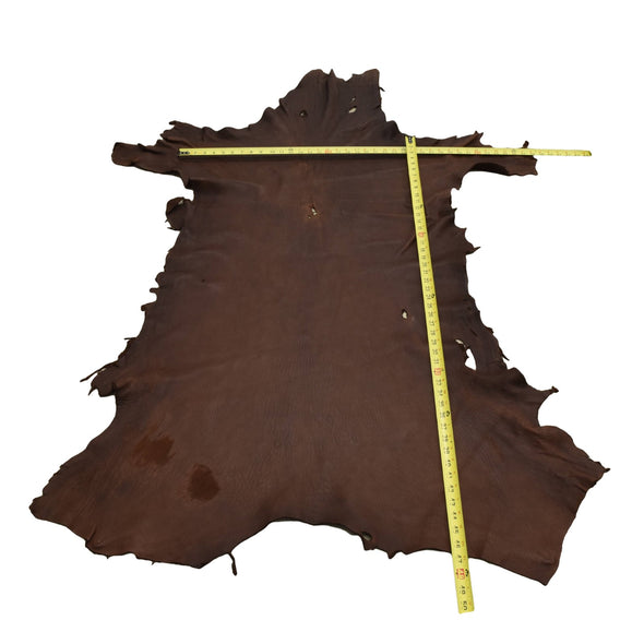 Chocolate Buckskin Deer Hides, 13 Square Foot / Hide 1 / 4-5oz