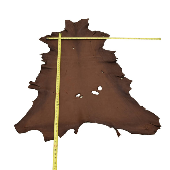 Chocolate Buckskin Deer Hides, 10 Square Foot / Hide 5 / 4-5oz