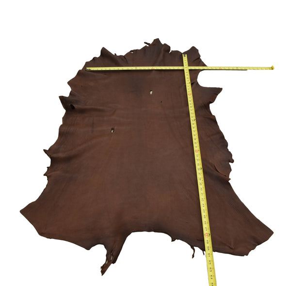 Chocolate Buckskin Deer Hides, 13 Square Foot / Hide 2 / 4-5oz