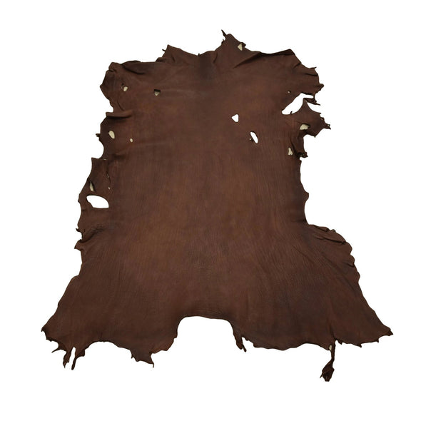 Chocolate Buckskin Deer Hides, 11 Square Foot / Hide 3 / 4-5oz