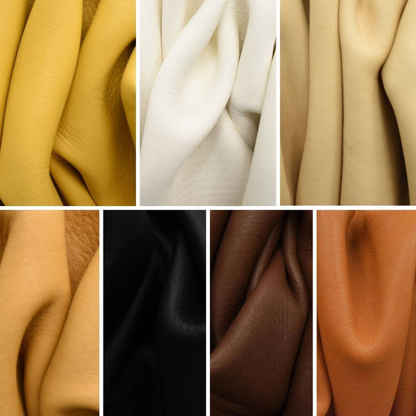 Bulk Buckskin Deer Hides Various Colors,