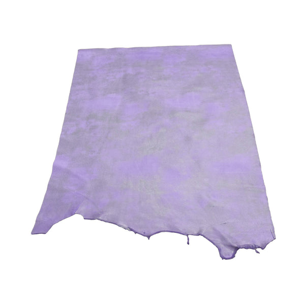Dearly Beloved Purple Rock N Roll 2-3 oz Leather Cow Hides, 6.5-7.5 Square Foot / Project Piece (Middle)