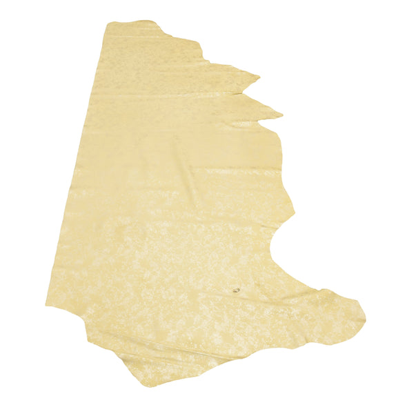 Champagne Mist on Yellow 2-3 oz Cow Hides,