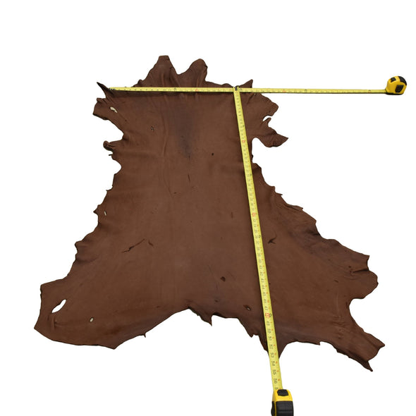 Chocolate Buckskin Deer Hides, 13 Square Foot / Hide 12 / 4-5oz