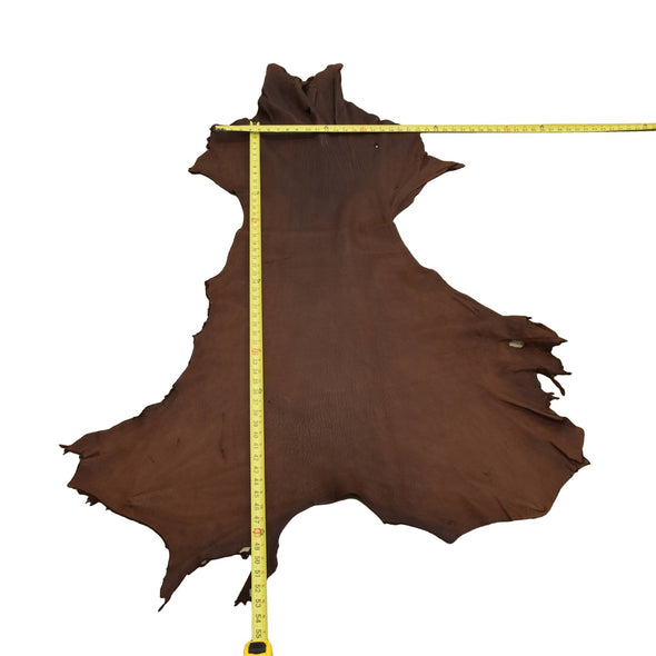Chocolate Buckskin Deer Hides, 11 Square Foot / Hide 9 / 4-5oz