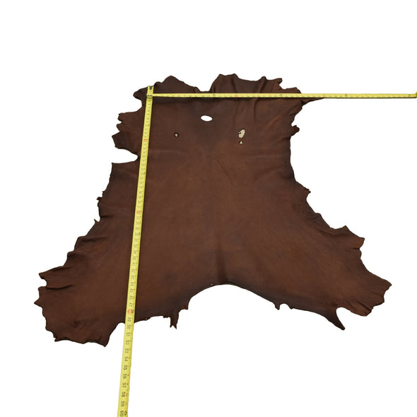Chocolate Buckskin Deer Hides, 12 Square Foot / Hide 13 / 4-5oz