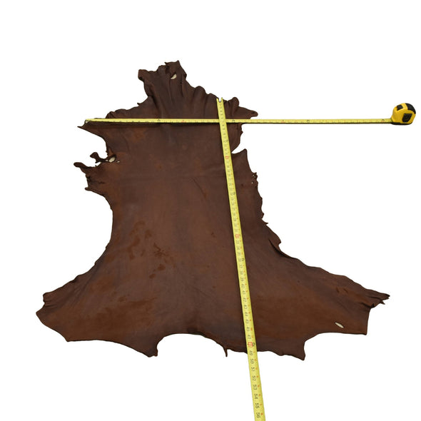 Chocolate Buckskin Deer Hides, 10 Square Foot / Hide 6 / 3-4oz