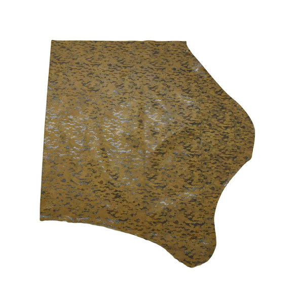 Camo Snakeskin - Various Colors 3-4 oz Cow Hides, 4-5 Sq Ft / Brown