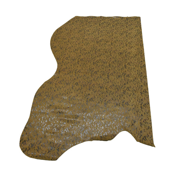 Camo Snakeskin - Various Colors 3-4 oz Cow Hides, 9-10 Sq Ft / Brown