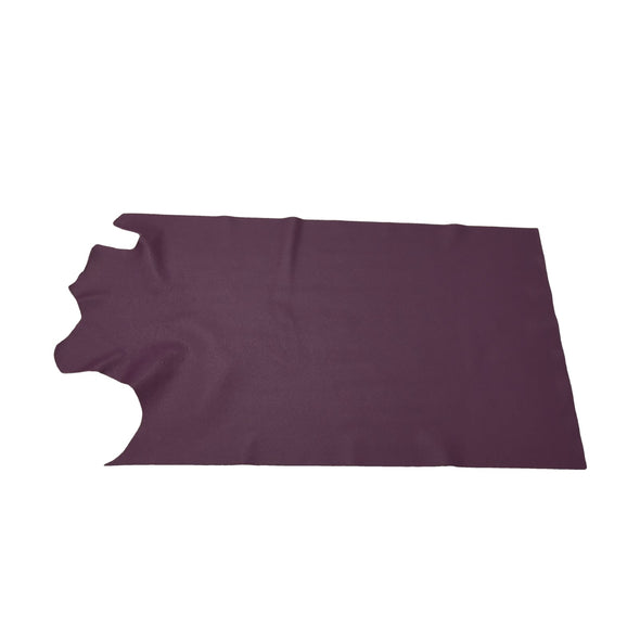 Nappa Concord Grape, 3-4 oz Cow Hides, Tried n True, 6.5-7.5 Square Foot / Project Piece (Middle)