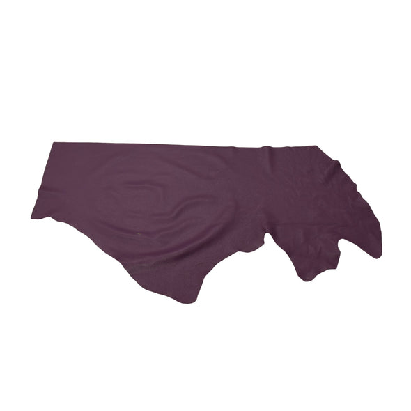 Nappa Concord Grape, 3-4 oz Cow Hides, Tried n True, 6.5-7.5 Square Foot / Project Piece (Bottom)
