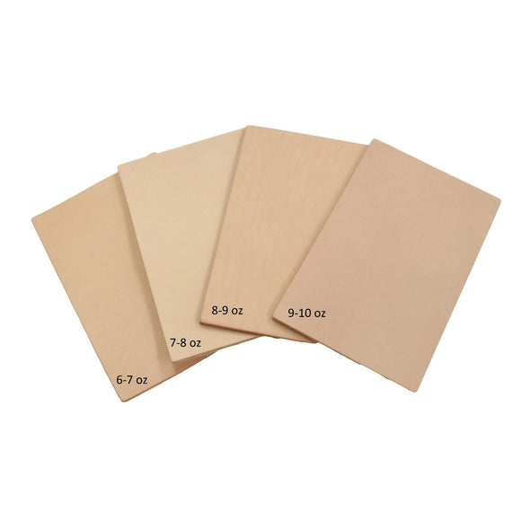 Artisan's Choice Various Pre-cut Sizes Leather Packs Veg Tan Cow 3-10 oz, 4x6 / Heavy