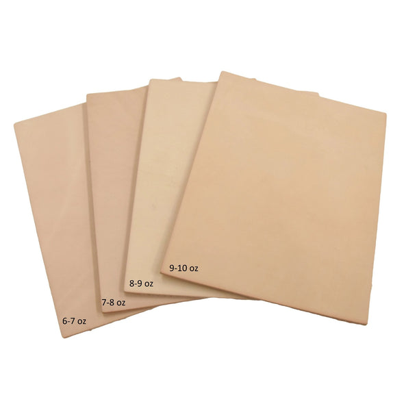 Artisan's Choice Various Pre-cut Sizes Leather Packs Veg Tan Cow 3-10 oz, Heavy / 8x10
