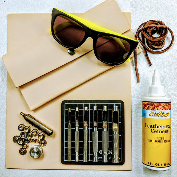 DIY Leather Sunglasses Case Kit,